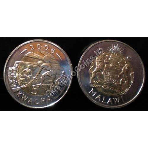 MALAWI 5 Kwacha 2006...