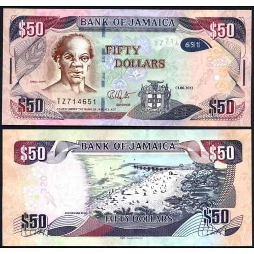 JAMAICA 50 Dollars 2013 Hybrid