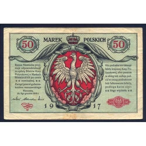 POLAND 50 Marki 1917