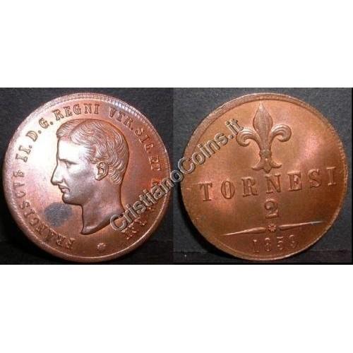 FRANCESCO II 2 TORNESI 1859