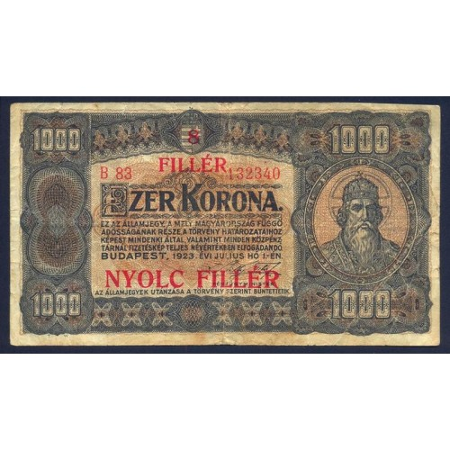 HUNGARY 1000 Filler 1923