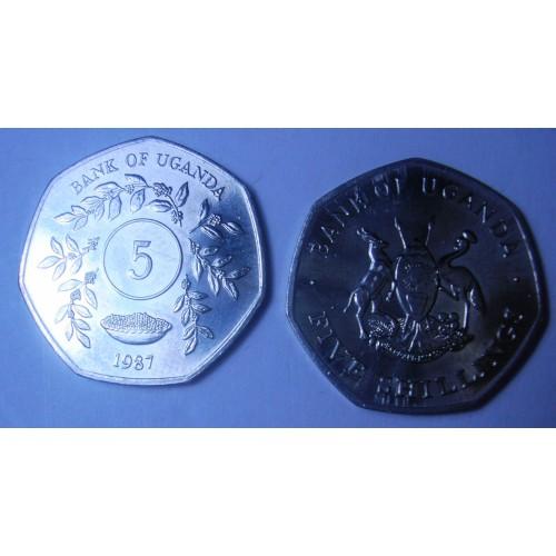 UGANDA 5 Shillings 1987
