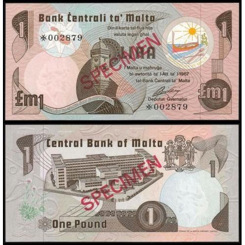 MALTA 1 Lira 1979 SPECIMEN