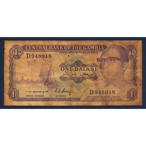 GAMBIA 1 Dalasi 1972/86