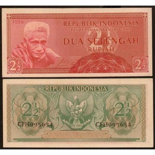 INDONESIA 2 1/2 Rupiah 1956