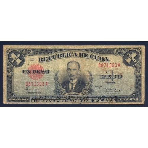 CUBA 1 Peso 1943