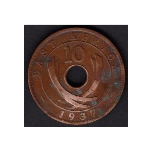 EAST AFRICA 10 Cents 1937H