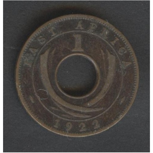 EAST AFRICA 1 Cent 1922 H