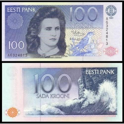 ESTONIA 100 Krooni 1991