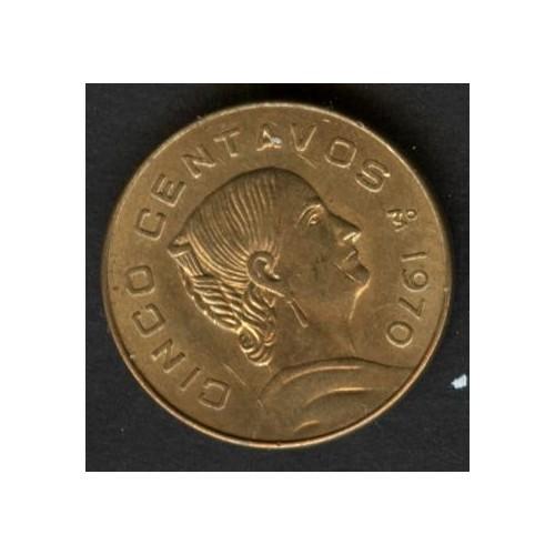 MEXICO 5 Centavos 1970