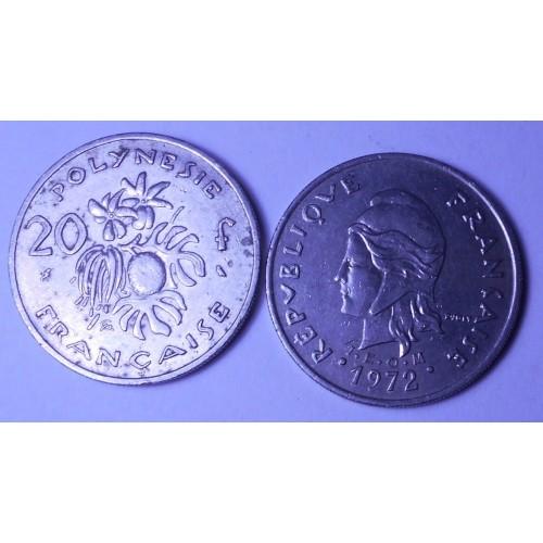 FRENCH POLYNESIA 20 Francs...