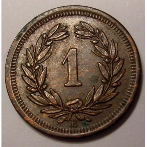 SWITZERLAND 1 Rappen 1902