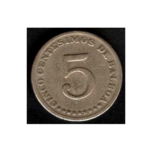 PANAMA 5 Centesimos 1975