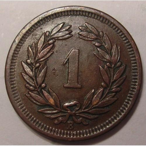SWITZERLAND 1 Rappen 1904