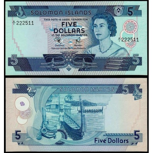 SOLOMON ISLANDS 5 Dollars 1977