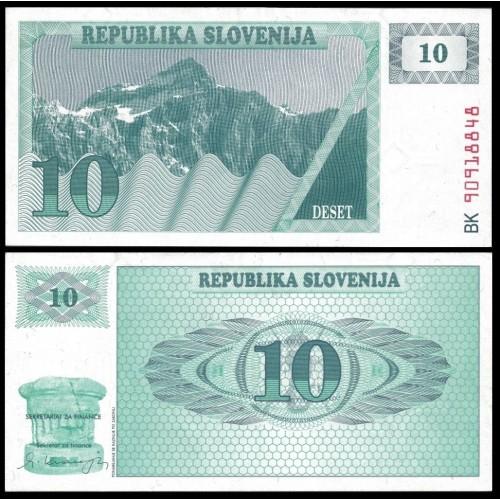 SLOVENIA 10 Tolarjev 1990