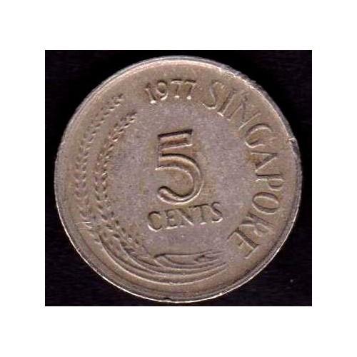 SINGAPORE 5 Cents 1977