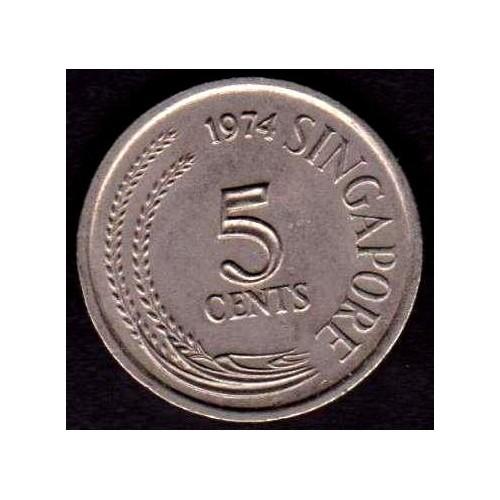 SINGAPORE 5 Cents 1974