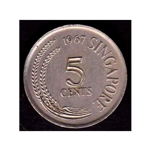 SINGAPORE 5 Cents 1967