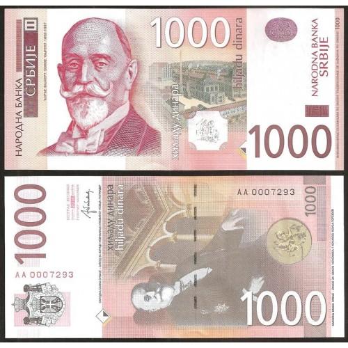 SERBIA 1000 Dinara 2014 Low...