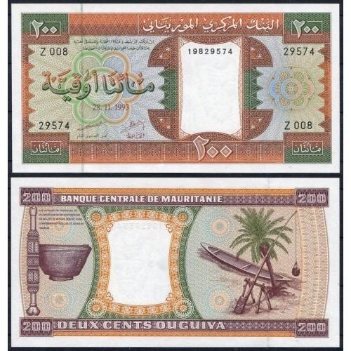 MAURITANIA 200 Ouguiya 1993