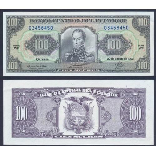 ECUADOR 100 Sucres 1993...
