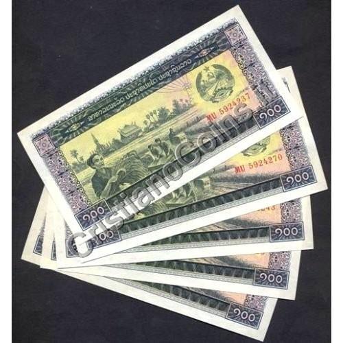LAOS Lot of 5 Notes 100 Kip...