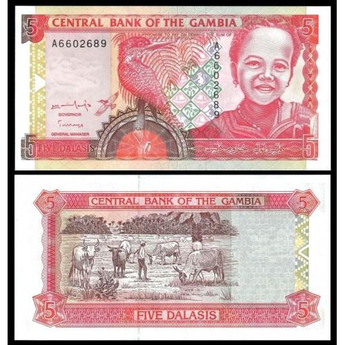 GAMBIA 5 Dalasis 1996