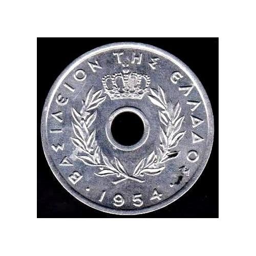 GREECE 10 Lepta 1954