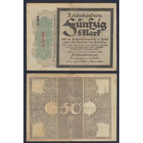 GERMANY 50 Mark 1918