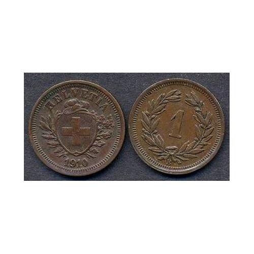 SWITZERLAND 1 Rappen 1910