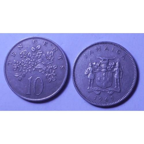 JAMAICA 10 Cents 1969