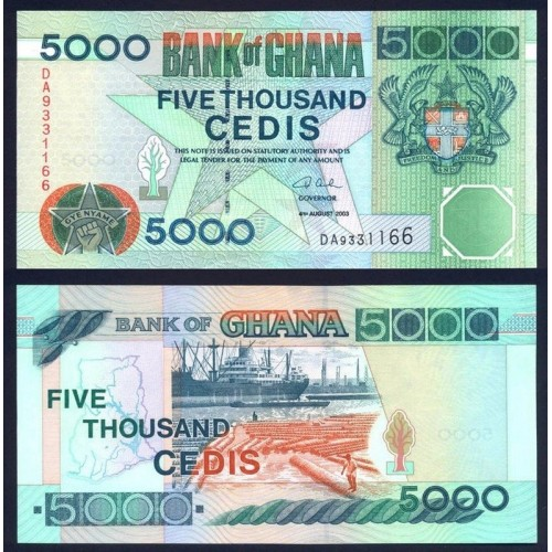 GHANA 5000 Cedis 2003