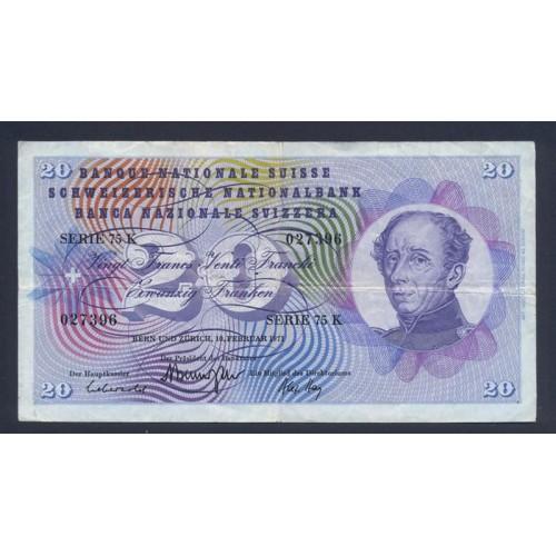 SWITZERLAND 20 Franken 1971