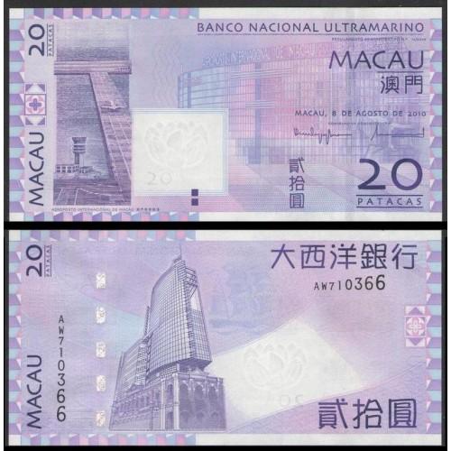 MACAO 20 Patacas 2010