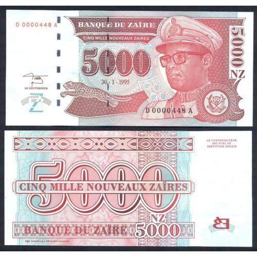 ZAIRE 5000 Nouveaux Zaires...