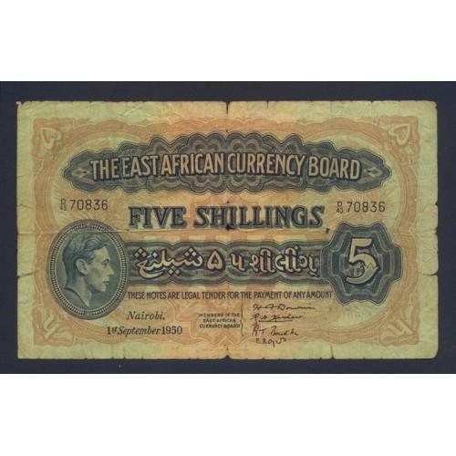 EAST AFRICA 5 Shillings...