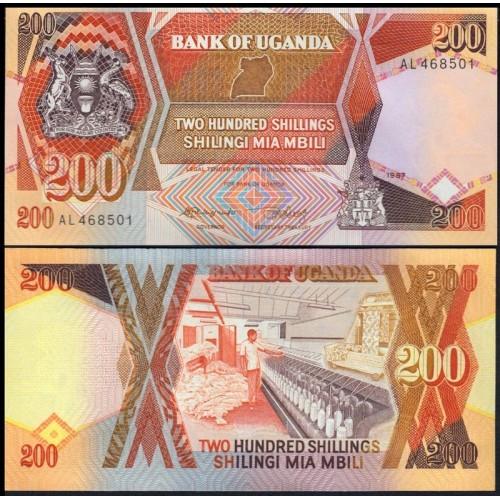 UGANDA 200 Shillings 1987