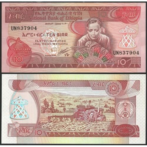 ETHIOPIA 10 Birr 1991