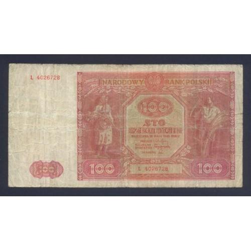 POLAND 100 Zlotych 1946