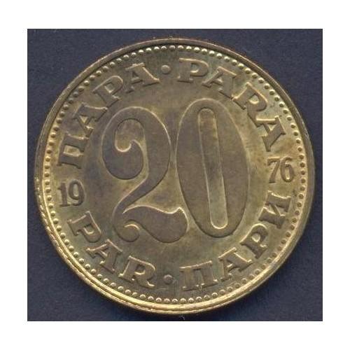 YUGOSLAVIA 20 Para 1976