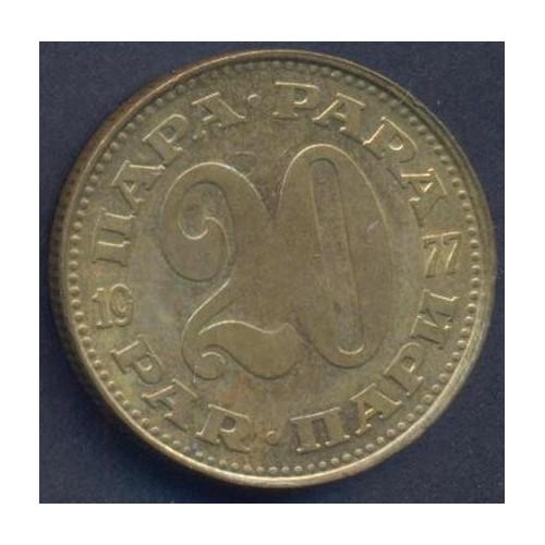 YUGOSLAVIA 20 Para 1977