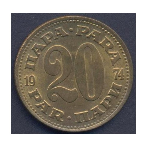 YUGOSLAVIA 20 Para 1974