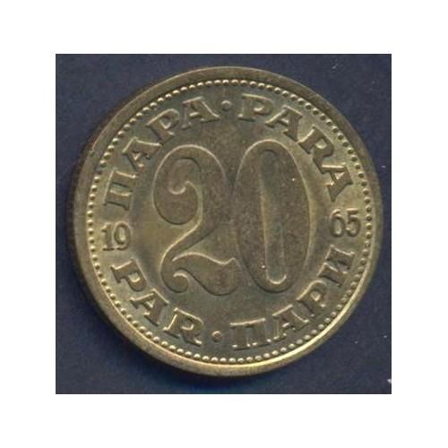 YUGOSLAVIA 20 Para 1965