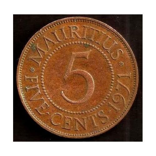 MAURITIUS 5 Cents 1971