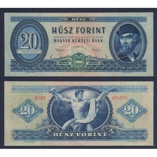 HUNGARY 20 Forint 1957