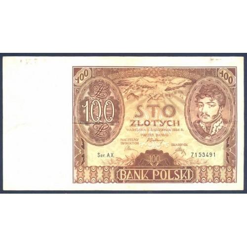 POLAND 100 Zlotych 1934