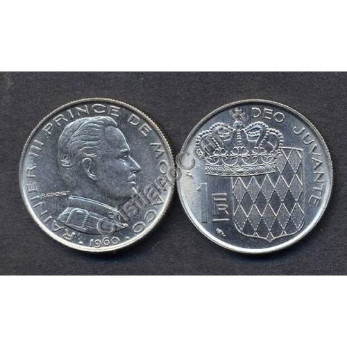 MONACO 1 Franc 1960 Ranieri...