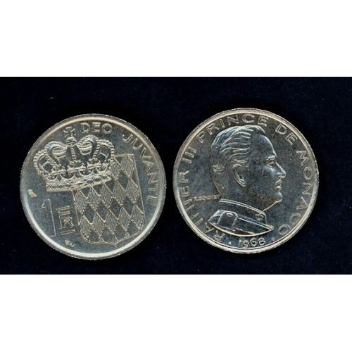 MONACO 1 Franc 1968 Ranieri...