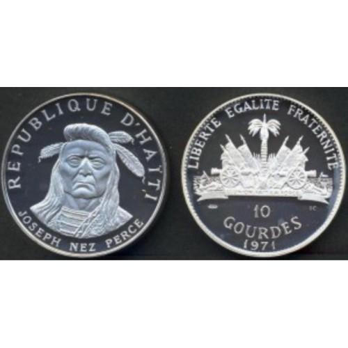 HAITI 10 Gourdes 1971...